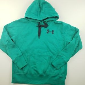 Under armour green pull over hoodie Medium mens